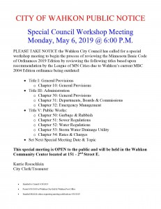 May 6th Special Meeting