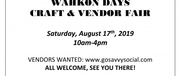Wahkon Days Vendor Fair